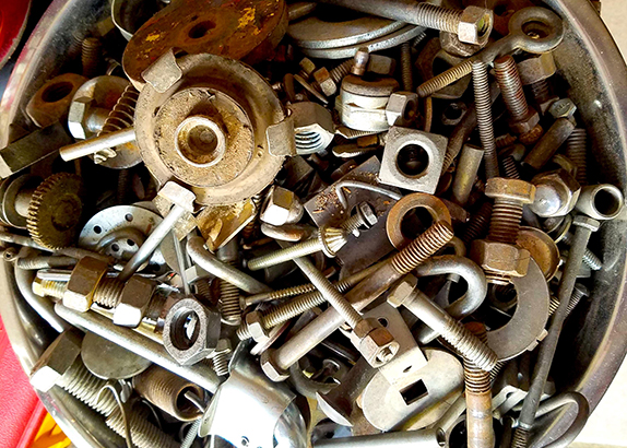 Hardware bolts, screws, and other various tools from Annie's Dependable Service Hardware in Washington D.C.
